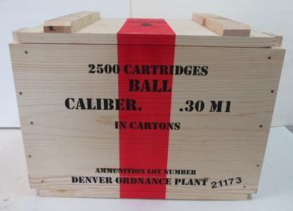 REPRODUCTION WOODEN CRATE 30 CAL M1