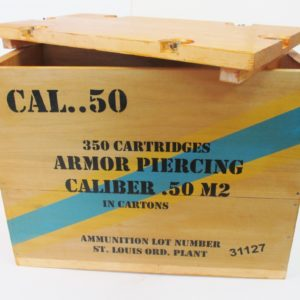 REPRODUCTION WOODEN CRATE 50 CAL A P