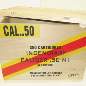 REPRODUCTION WOODEN CRATE 50 CAL INCENDIARY