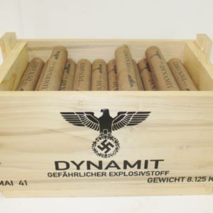 REPRODUCTION WOODEN CRATE DYNAMITE GERMAN