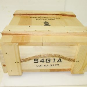 REPRODUCTION WOODEN CRATE GRENADE MK2