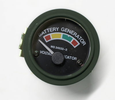 GAUGE GENERATOR 24V RED YELLOW GREEN