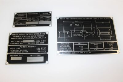 DATA PLATE  SET M100 STRICK