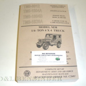 MANUAL M38 MIL JEEP COMPLETE