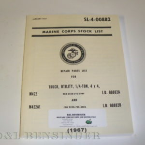MANUAL M422/A1 MIL PARTS 1960