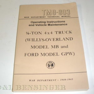 MANUAL MB/GPW TM9-803