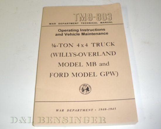 MANUAL MB/GPW TM9-803
