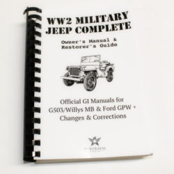 MANUAL MB/GPW MIL JEEP COMPLETE (LAY FLAT MANUAL)