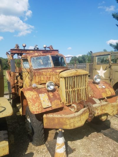 1942 DIAMOND T WRECKER 969A WITH BOOM - SOLD!!